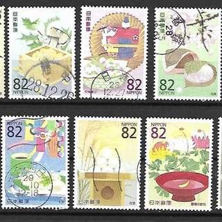 日本2016年日本美食文化(二)集第2組(C2290)信銷郵票10全