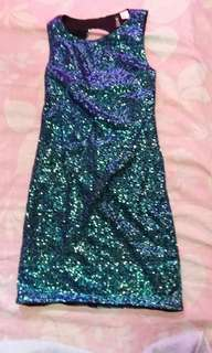 H&M Sequined Bodycon Dress