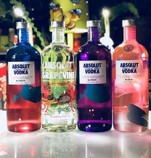 Assorted Flavours Absolut Vodka 1L