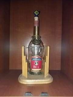 Big Martell glass bottle