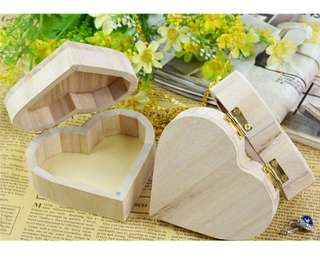 Wooden heart ring / accessory box