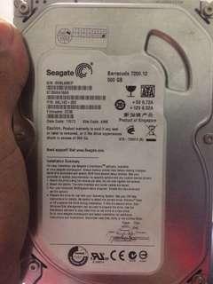 Seagate 500gb barracuda 7200.12 hard drive