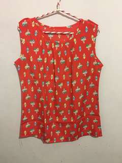 Red doll woman blouse