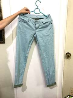 Blue candy colored jeans