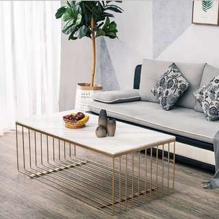 Marble w Gold Detail Coffee Table