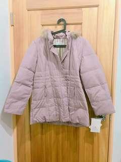 🚚 粉紫色薄羽絨衣
