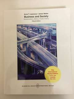 Business and society fifteenth edition Anne T. Lawrence / James Weber