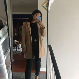 Long Tan topshop coat