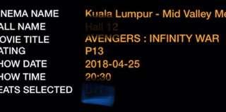 Avengers Infinity War(25/4/2018)