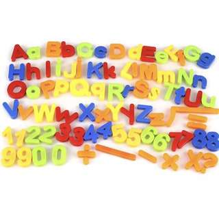 Alphabet letters for learning