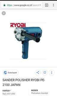 Mesin poles rotary ryobi