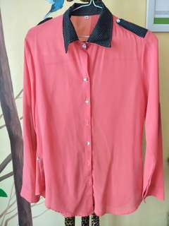 Baju atasan warna pink