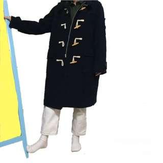 深藍牛角外套