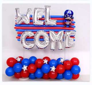 Party Balloons Decorations with Captain America start from $18.90/-