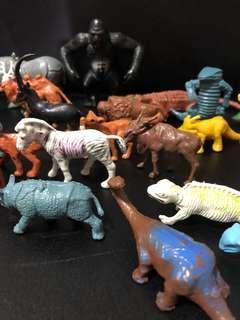 Vintage animal dinosaur toys