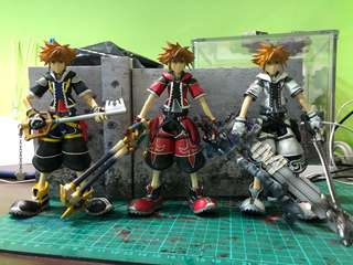 Sora (Normal, Valor and Final form) from Kingdom Hearts