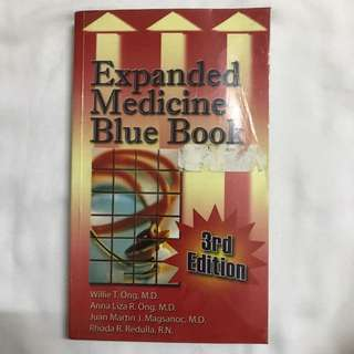 Expanded Medicine Blue Book by Willie Ong et al. 3e