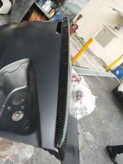 Evo 10/ ex lancer carbon fibre bootlip