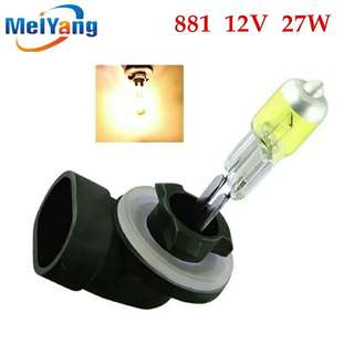 H27 Halogen Bulbs 881 27W Headlights fog lamps light running parking 12V Car Light Source DRL Daytime Yellow Amber day