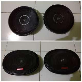Speaker Pintu Mobil Coaxial 6 inc  dan Oval