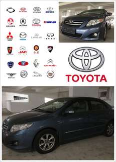 Toyota altis $1600 for 1.5 month rental
