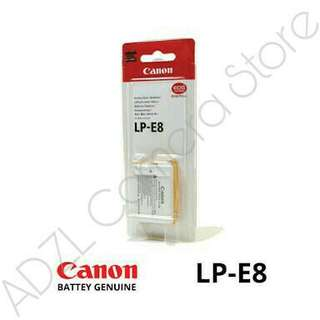 Battery Canon LP-E8 Original (EOS 550D, 600D,650D,DLL) Baru