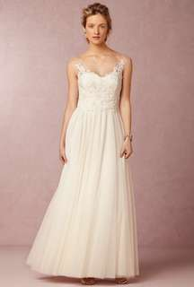 Watters Lucca Maxi in Ivory US Size 0 prewedding 婚紗