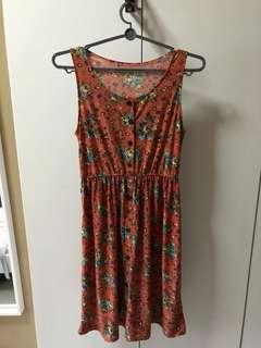 Floral mid dress