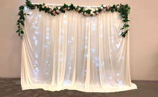DIY backdrop