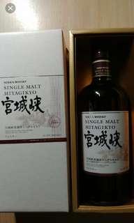 日本宫城峽NAS威士忌700mI禮盒