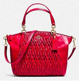 Coach 手袋 Red Kelsey twisted leather