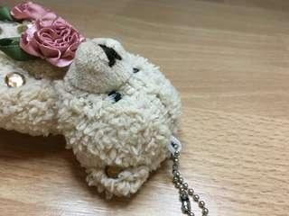 NEW - lux teddy bear bag/keychain