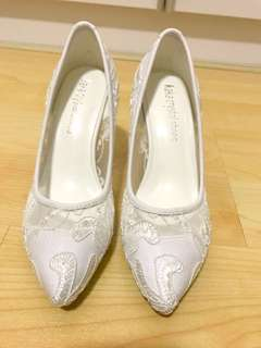 White lace wedding shoes Size 32/ 210mm