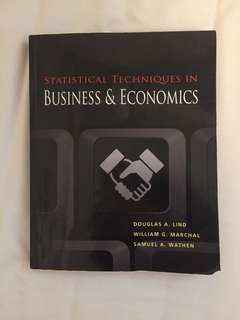 Statistical Techniques In Business & Economics BSTATS TP TEXTBOOK
