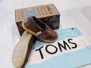 Toms Dark choco classic canvas