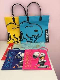 Snoopy 禮物袋一set五個