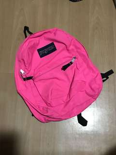 Authentic Jansport Backpack (Neon Pink)
