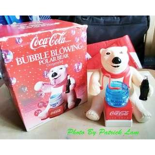 可口可樂90年代生產北極熊吹泡泡機一部