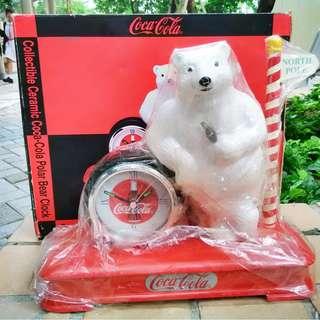 可口可樂90年代生產北極熊檯鐘一部