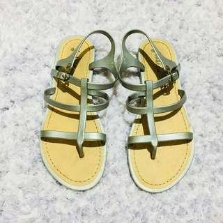 JESSICA Gray Gladiator Sandals