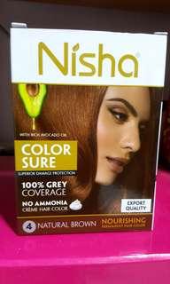 Fast deal 2 for 12$ NISHA Natural Brown hair dye