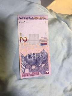 Malaysia RM2 Note
