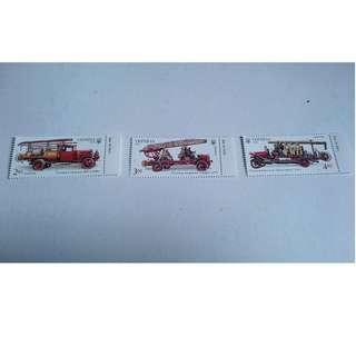 烏克蘭 消防車郵票