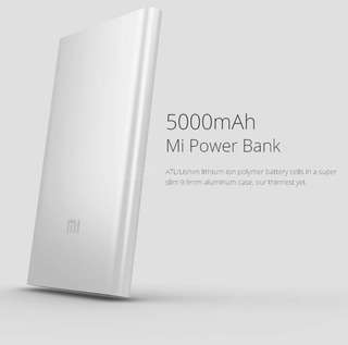 Xiaomi / Mi Slim Power Bank  5000 mAh Silver