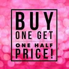 Buy one get second half price