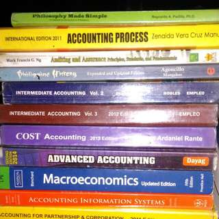 ACCOUNTING TEXTBOOKS (P 50 TO 250)