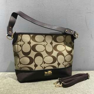 Coach Shoulder Bag Coffee Color
