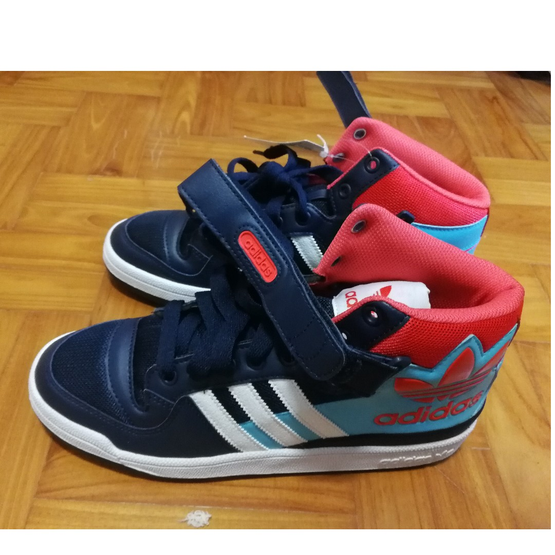 huge discount cea32 1cb4b  2ND ITEM 50%OFF adidas Originals Forum Mid Navy Orange AQ3178, Men s  Fashion, Footwear on Carousell