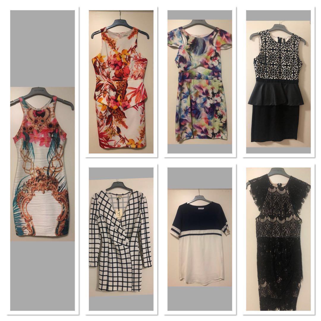 7x Women's Dresses SIZE 8 Bulk