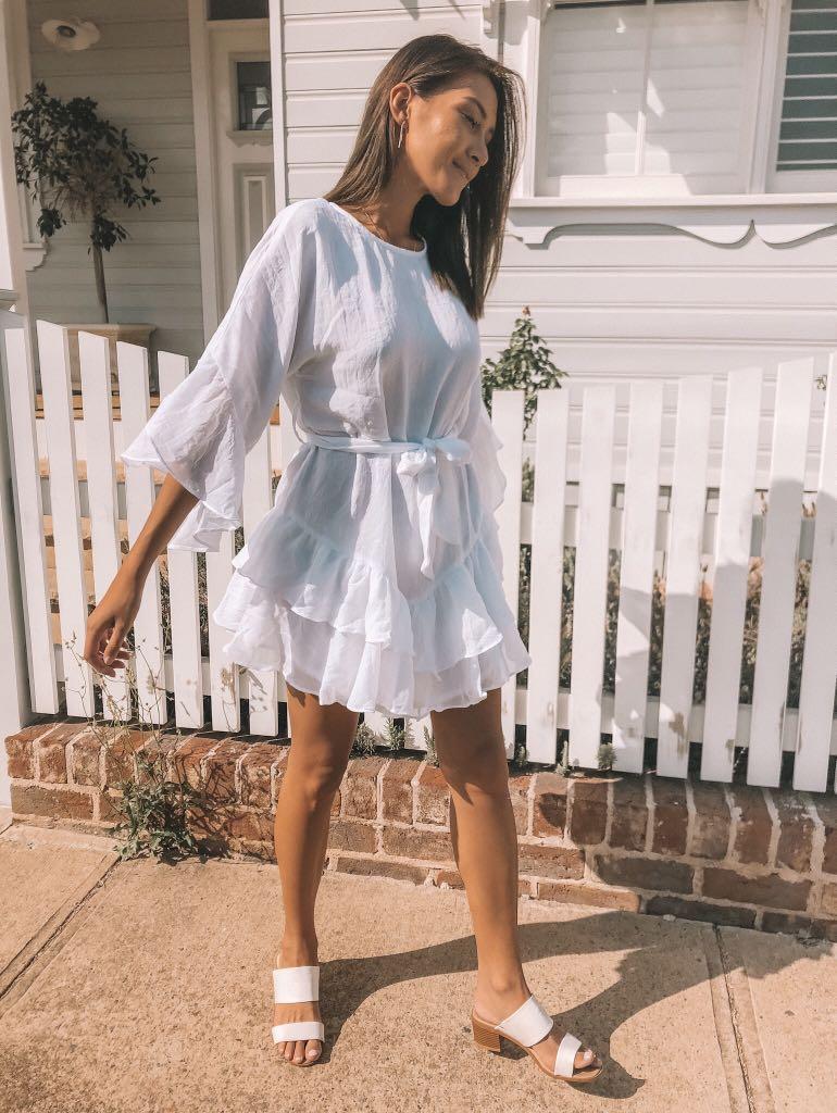 // dollygirl fashion - NEW white layer ruffle dress